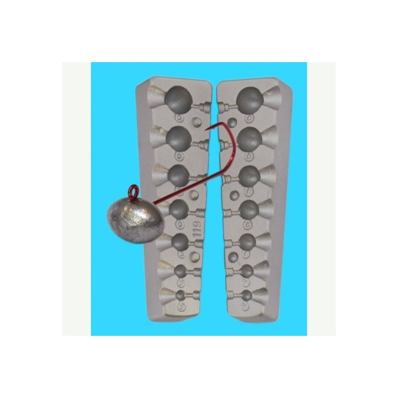 Matrita jig oval cod 119 1-2-6-9-13-20-26 g.